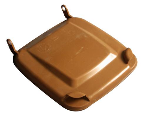 Víko k plastové popelnici 120 lt. - plastové nádobě - hnědé