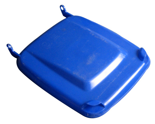 Víko k plastové popelnici 240 lt. - plastové nádobě - modré