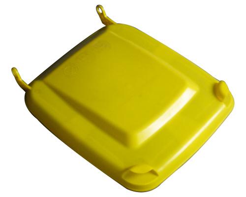 Víko k plastové popelnici 240 lt. - plastové nádobě - žluté