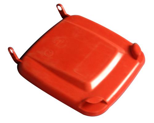 Víko k plastové popelnici 240 lt. - plastové nádobě - červené